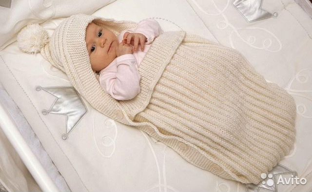 Конверт для новорожденного своими руками на спицах