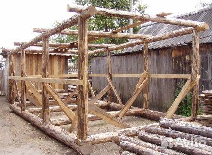 Построить гараж из дерева своими руками