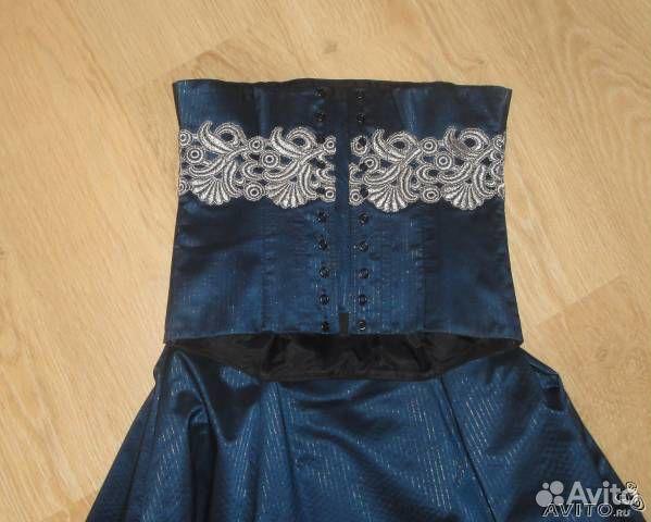 Очень красивый вечерний костюм - юбка+корсет. Маркировка 38 (46р+-). Юбка длинная, в пол