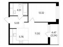2-к. квартира, 42,2 м², 22/25 эт.