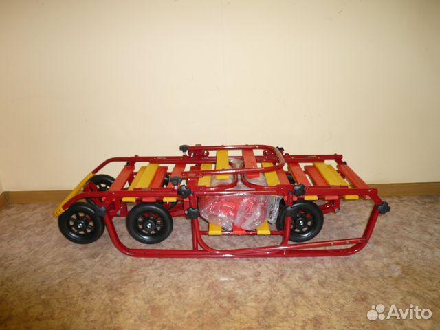 санки трансформеры для двойни с выдвижными колесами