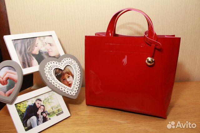 Женская красная сумка club FURLA - tsumru