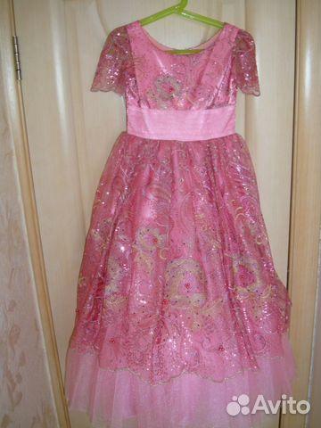 Платье принцесса праздничное р.116— фотография №1