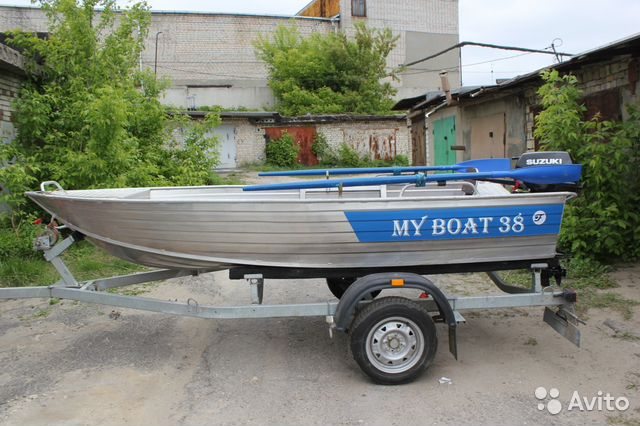 купить моторную лодку с прицепом бу