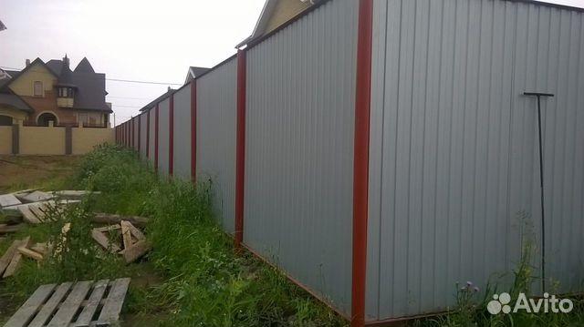 Качественный забор из профнастила раздвижные ворота цена