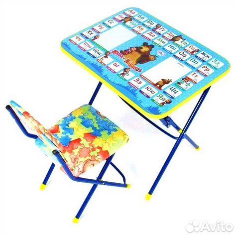 стол и стул комплект детский маша и медведь купить в нижегородской