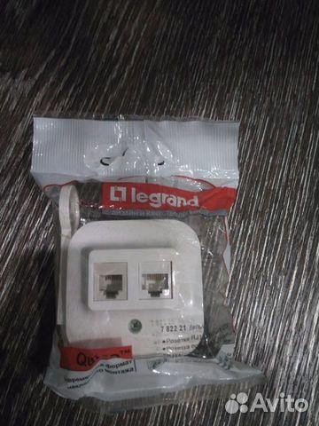 Розетка Legrand RJ11+RJ45 телефонная + компьютерна