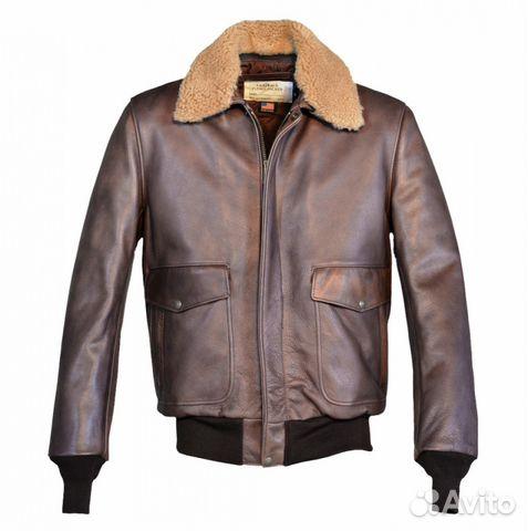 503dde2aa8a3 Куртка кожаная Schott Cowhide Bomber Jacket brown купить в Москве на ...
