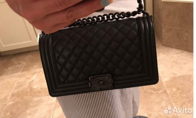 Шанель Бой Chanel Boy So Black Cумка Клатч Кожа купить в Москве на ... c31eefa3ed2