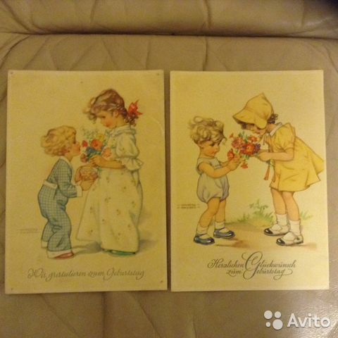 Продам открытки немецкие 40-х годов, прикольные спасибо заботу