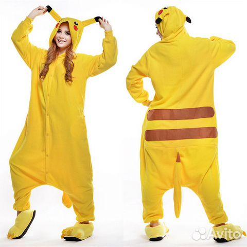 5dc9b10087a65 Пижама костюм кигуруми Пикачу купить в Кемеровской области на Avito ...