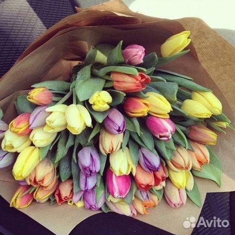 Букет на 8 марта из тюльпанов 30 штук как оформлять — photo 8