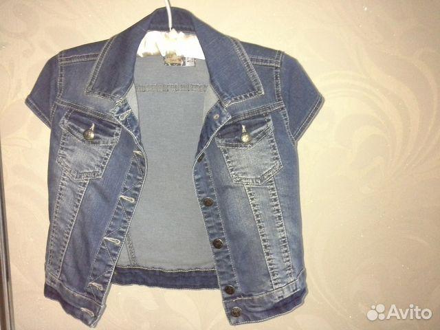 Жилетка джинсовая 89877309020 купить 1