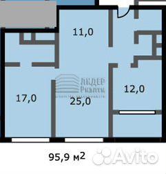 Продается трехкомнатная квартира за 21 500 000 рублей. Кочновский проезд, 4к1.