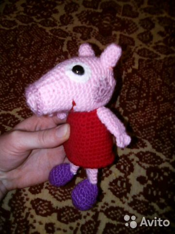 вязаная игрушка свинка пеппа Festimaru мониторинг объявлений