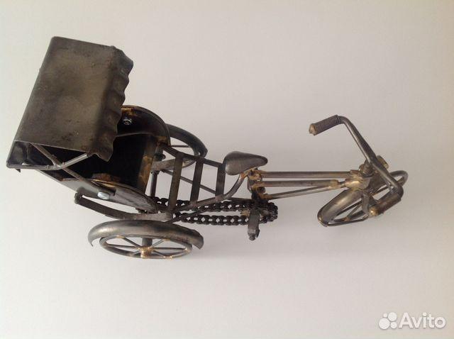 Модель велорикши, рикша металл купить 4