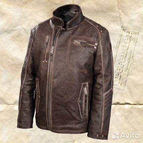 94a842721641 Мужская куртка из кожи буйвола