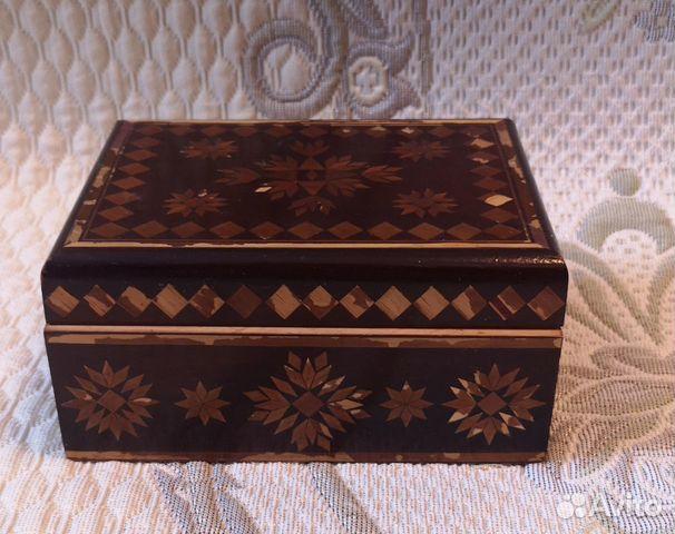 Деревянная шкатулка,СССР (16 см) 89137668817 купить 1