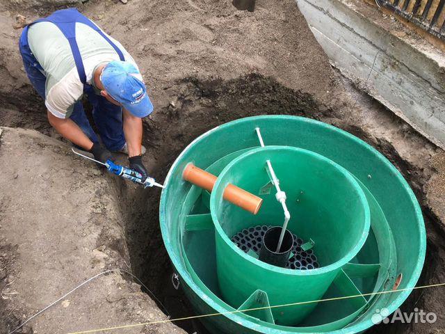 Установка автономной канализации (септиков) под кл