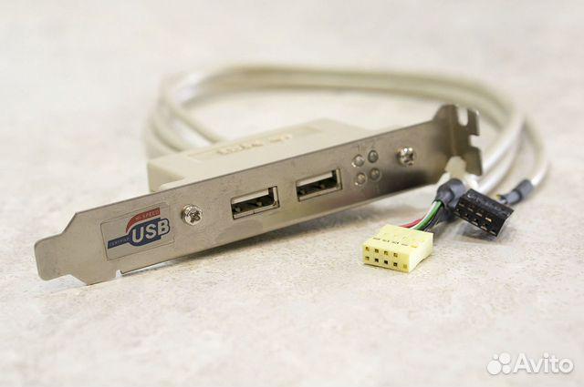 USB планка на заднюю панель с пост-светодиодам