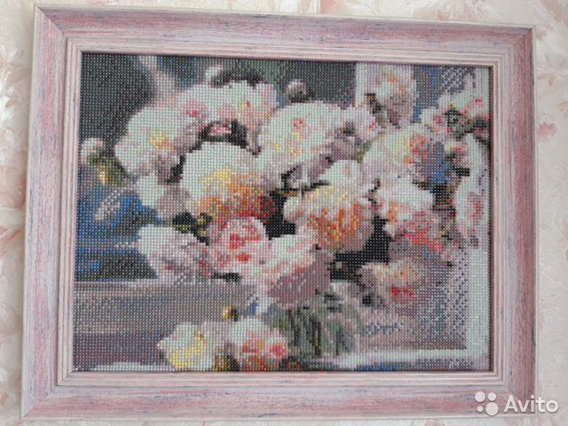 Картины алмазная вышивка и вышивка лентами  89158356890 купить 3