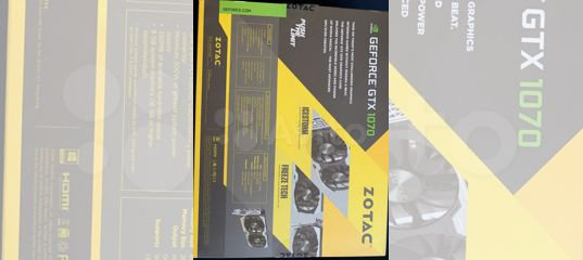 Видеокарта Zotac GEForce GTX 1070 8GB 256BIT gddr5