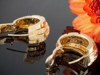 Золотые серьги Cartier из Европы