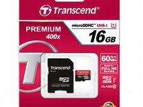 Карта памяти transcend Premium 16Gb UHS-I (400x)