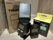 Вспышка Nikon ёнгноу + синхронизатор 622