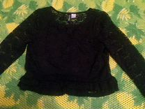 Укороченная гипюровая блуза