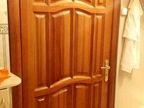 Дверь 90х200 из массива с ручкой и замком