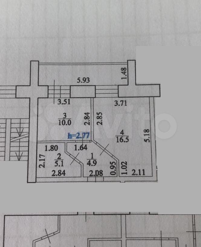 1-к квартира, 41 м², 5/9 эт.