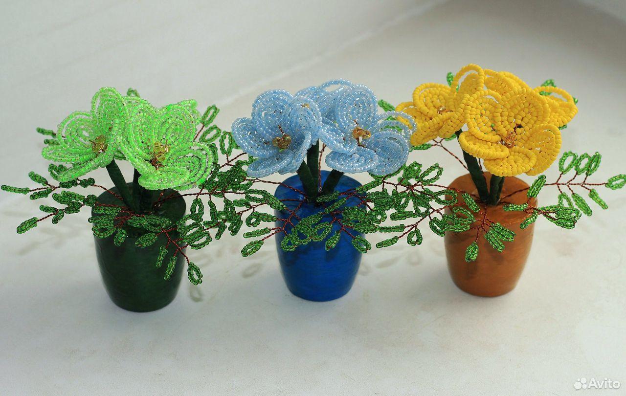 Цветы из бисера. Тюльпаны. Розы  89083089399 купить 7
