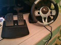 Руль игровой, с переключателем скоростей